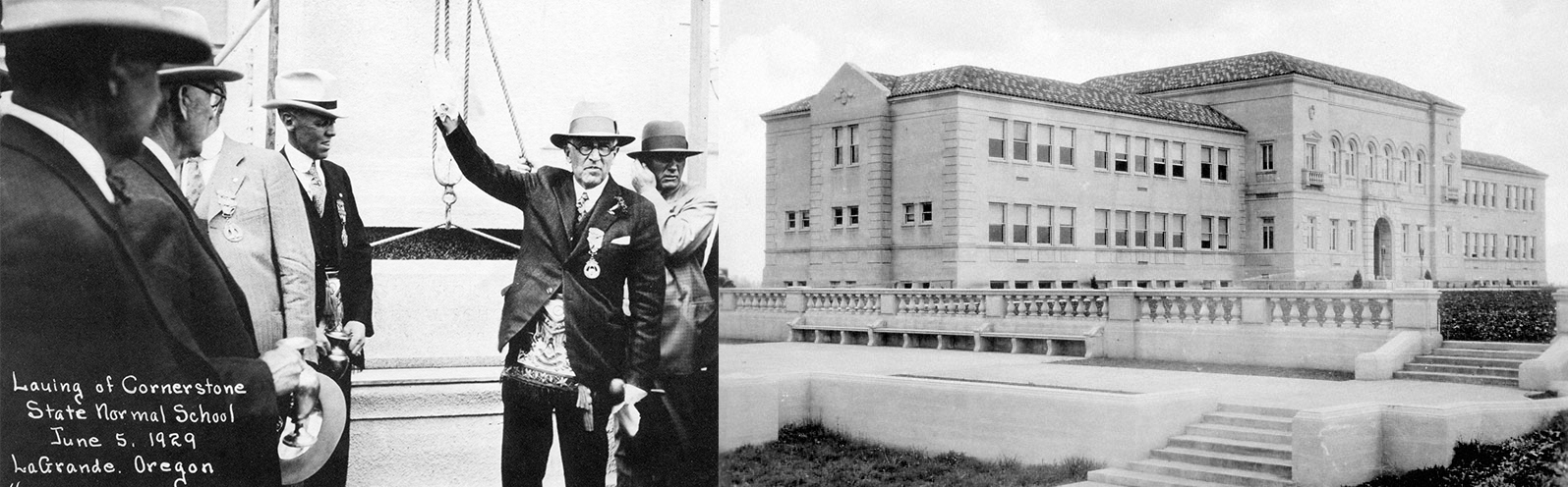 EOU Eastern Oregon University Inlow Hall June 1929