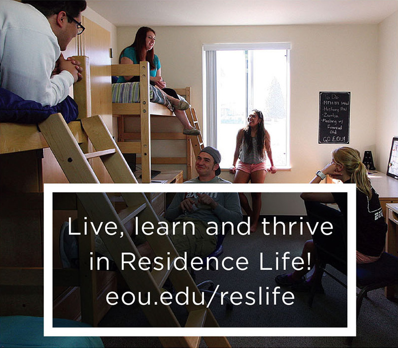 EOU has a vibrant resident life community.  Learn more at eou.edu/reslife