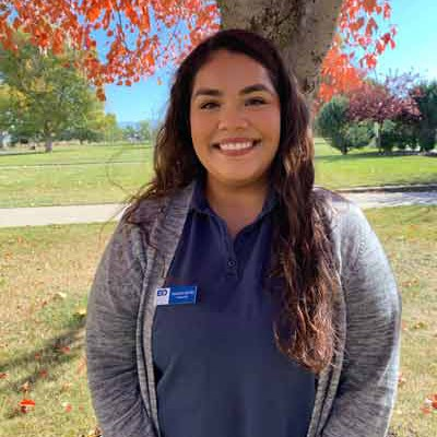 CASSANDRA SANCHEZ Year in school: Junior Major: Biology/Pre-Dental Hometown: Ontario, Oregon Why did you choose EOU? I picked Eastern because of the beautiful weather here, it is close to home, and it has awesome programs!