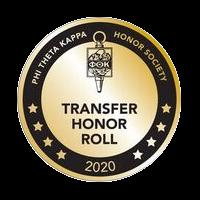 PTK Transfer Honor Roll badge