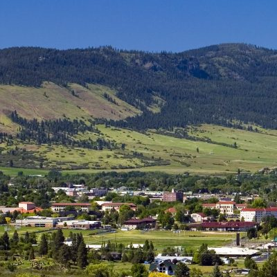 EOU campus from the rim of the Grande Ronde Valley