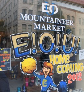 EOU Homecoming Window Paint