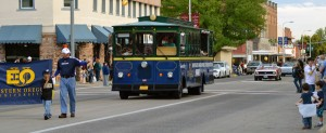 Homecoming Parade trolley