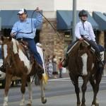 President Bob Davies & daughter Katie ride in the parade
