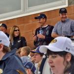 Alumni take in the game at Community Stadium