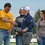 Coach Ben Welch & members of the 1997 Women's Cross Country Team
