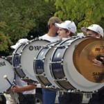 EOU Drum Line at the Tailgate Zone