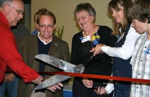 Gilbert Center ribbon cutting