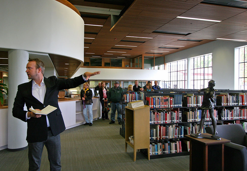 Pierce Library ribbon cutting