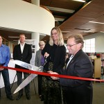 Pierce Library ribbong cutting