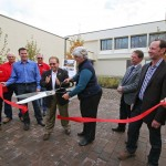 Zabel Hall ribbon cutting