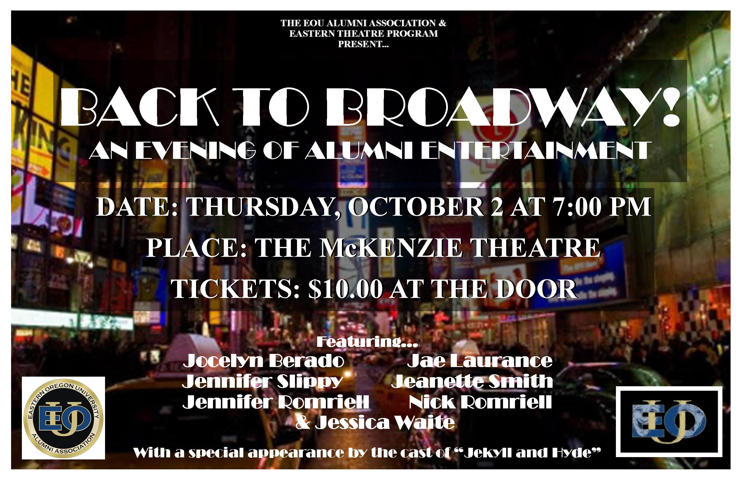 BACK TO BROADWAY POSTER