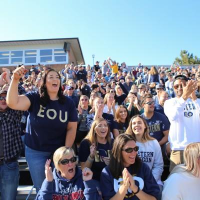 Crowd at football game