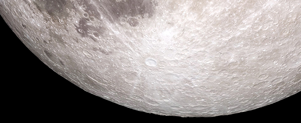 Detail of the Tycho lunar crater. Photo courtesy of Nasa.