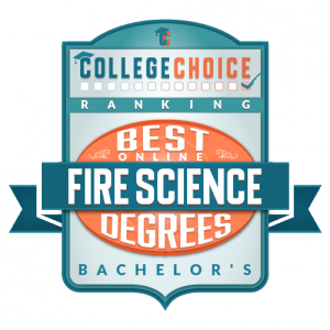 Best Online Bachelors in Fire Science Badge