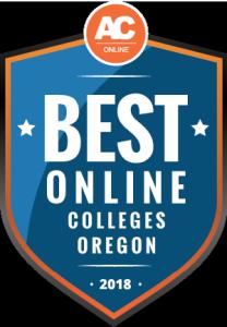 Best Online Colleges Oregon Badge