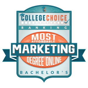 Most Affordable Online Bachelors Marketing Badge