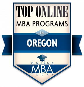 TOP ONLINE MBA PROGRAMS IN OREGON Badge