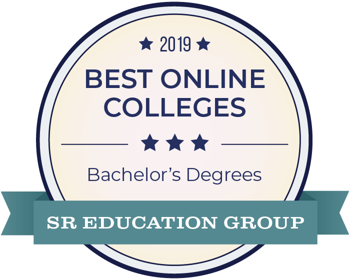 2019 Best Online Colleges for Bachelor's degrees badge from SR Education Group