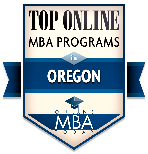 Top online MBA Programs in Oregon badge from Online MBA Today
