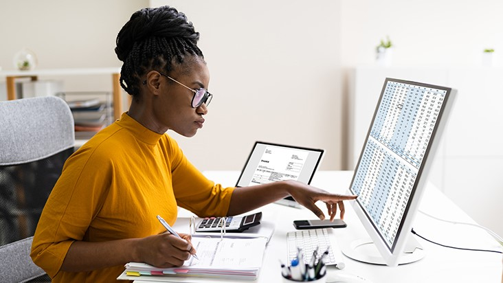 EOU Accounting Student Studying at Home