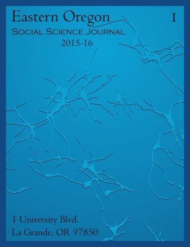 Eastern Oregon Social Science Journal Cover 2016
