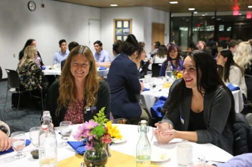 Students converse at the 2019 Launch Networking Dinner