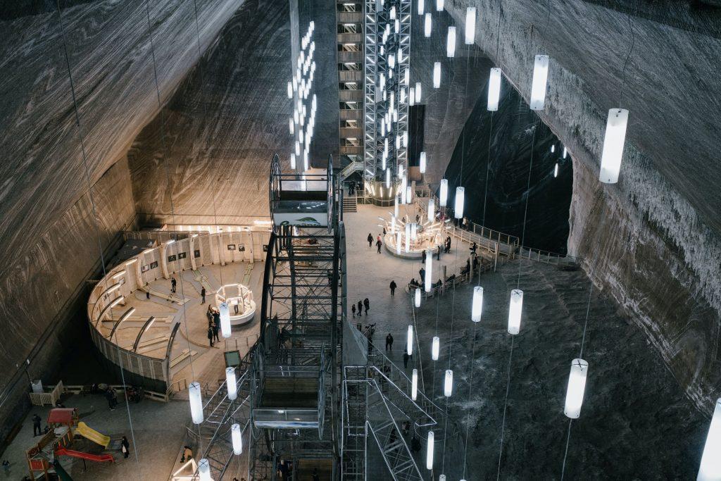 Underground mining, deep in a mine