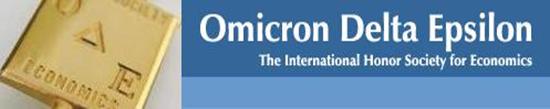 Omicron Delta Epsilon society logo