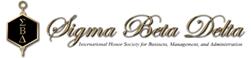 Sigma Beta Delta society logo
