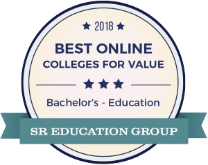 Best Online Colleges for Value Distinction Graphic