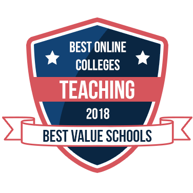 Best Online Colleges for Teaching Distinction Graphic