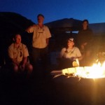 EOU Cottonwood Crossing Summer Institute Nighttime Fire