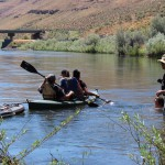 EOU Cottonwood Crossing Summer Institute Students on boat