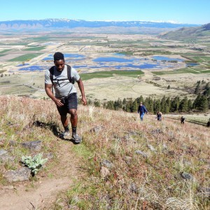 Health and Human Performance Student Hiking