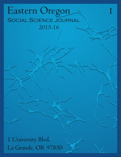 Eastern Oregon Social Science Journal Cover 2016