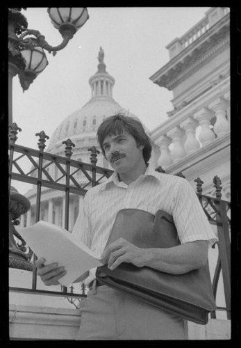Brock Evans in black and white