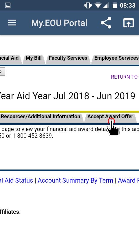 My.EOU Portal - Accept Award Offer