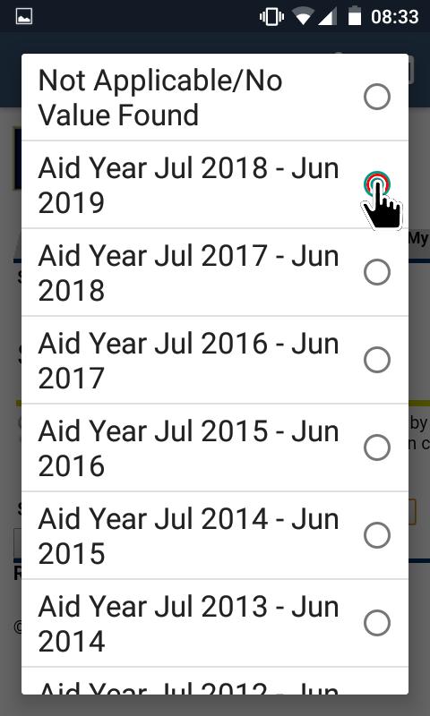 My.EOU Portal - Aid Year