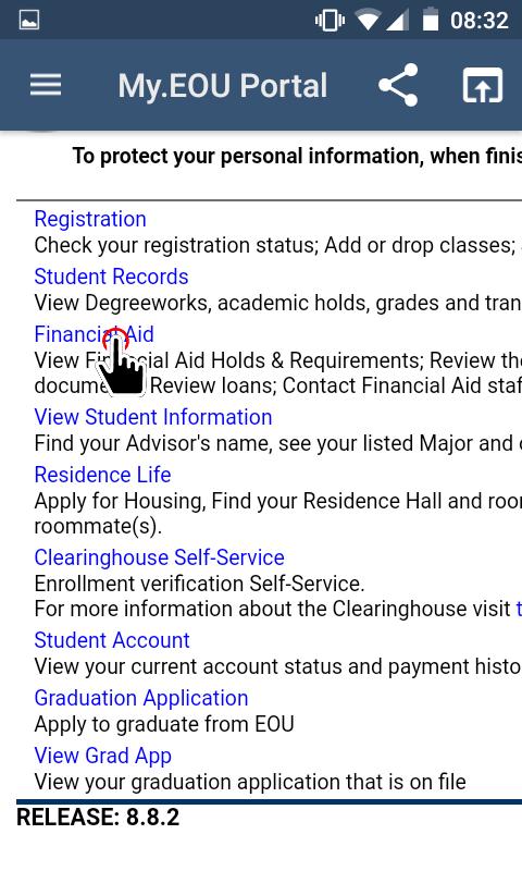 My.EOU Portal - Financial Aid