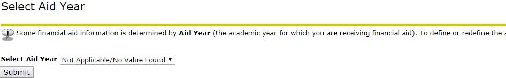 Select Aid Year