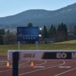 EOU Foundation Donor Banner Bank's track naming billboard on the EOU Campus
