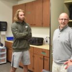 EOU Foundation Donor James Gorham speaks with students at EOU