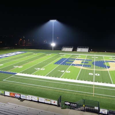 New turf at night
