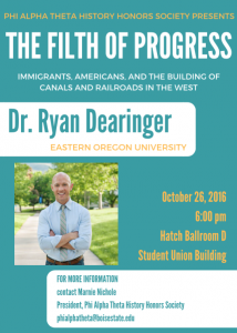 Oct. 26 -- Dr. Ryan Dearinger to give book talk at Boise State University