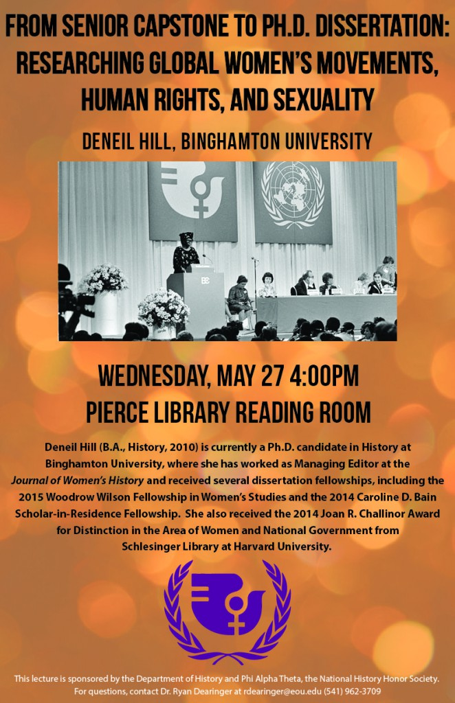 Deneil Hill lecture May 27