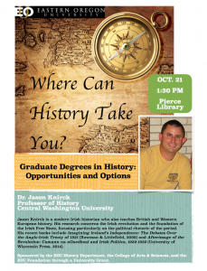 OCT. 21 TALK ON CAREERS IN HISTORY!