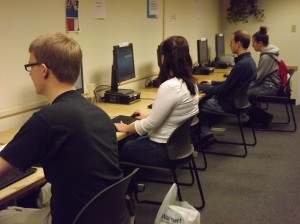 Students in LC computer lab