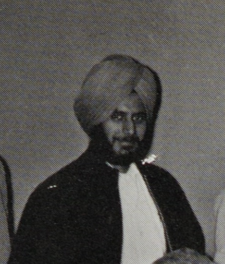 Satwant Thind in the 1963 yearbook.