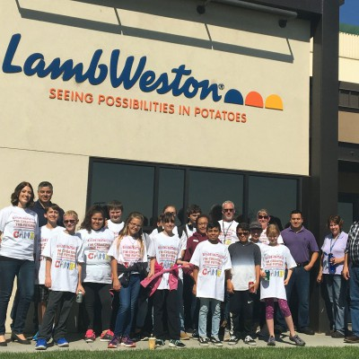 Campers in the Summer Manufacturing Camp visit Lamb Weston.